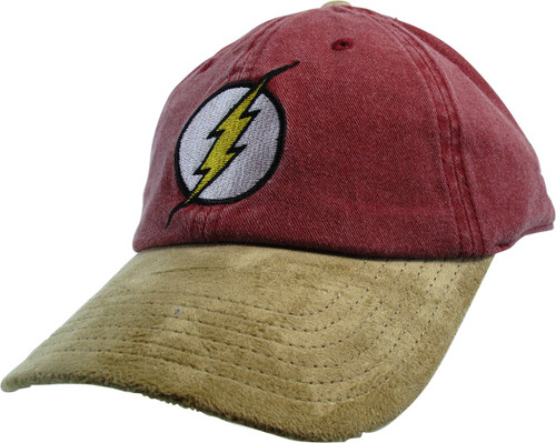 Flash Logo Red Hat Tan Bill Buckle Hat