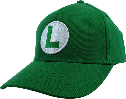 Super Mario Luigi Logo Green Flex Hat