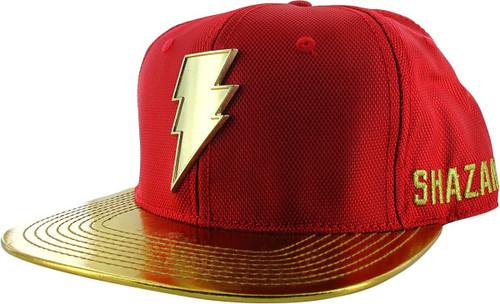 Shazam Movie 3D Golden Logo Snapback Hat