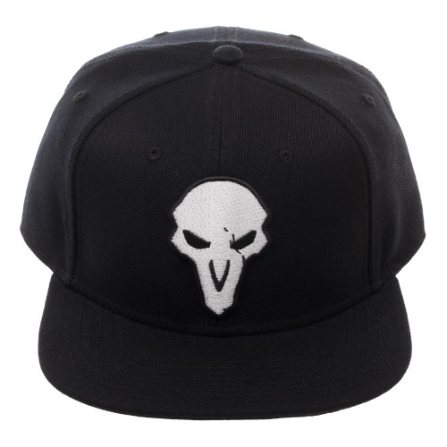 Overwatch Reaper Logo Black Snapback Hat