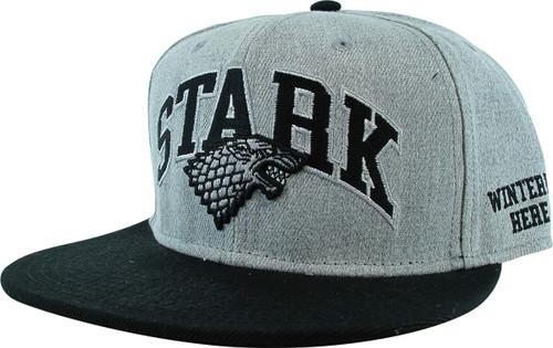 Game of Thrones Stark Logo Bioworld Snapback Hat