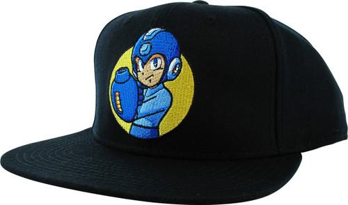Mega Man Power Stance Black Snapback Hat