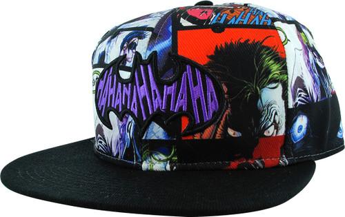 Joker Ha Ha Ha Logo Sublimated Snapback Hat