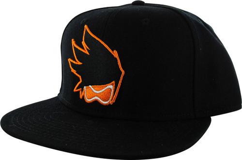 Overwatch Tracer Logo Black Snapback Hat