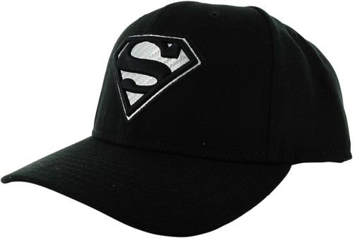 Superman Logo Carbon Fiber Black Snapback Hat