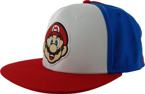 Super Mario Rubber Face Snapback Hat