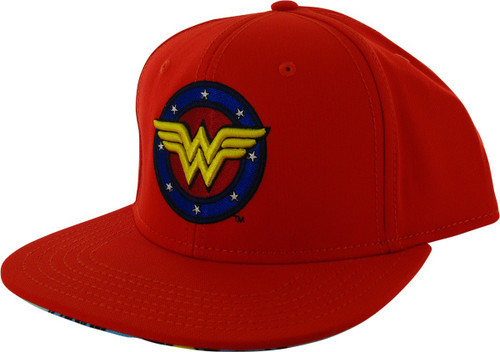 Wonder Woman Circle Logo Stars Snapback Hat