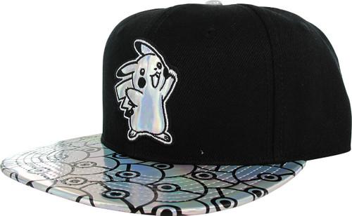 Pokemon Iridescent Pikachu Poke Balls Snapback Hat