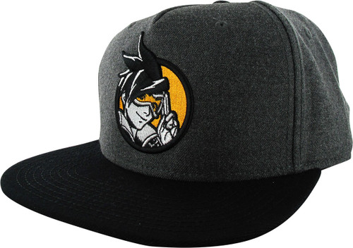 Overwatch Tracer Salute Charcoal Snapback Hat