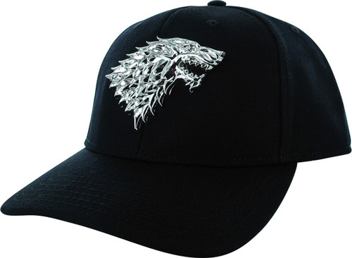 Game of Thrones Metal Stark 3D Logo Snapback Hat