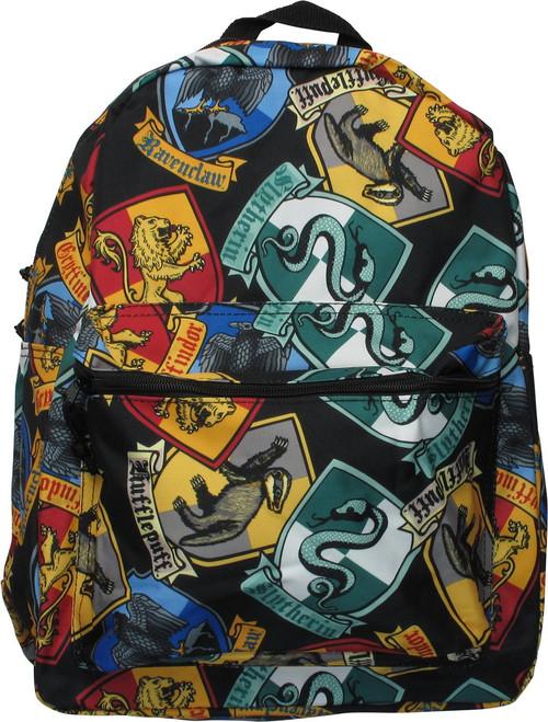 Harry Potter House Crests Allover Print Backpack
