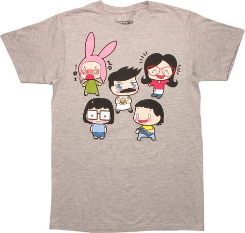 Bob's Burgers Chibi Characters T-Shirt