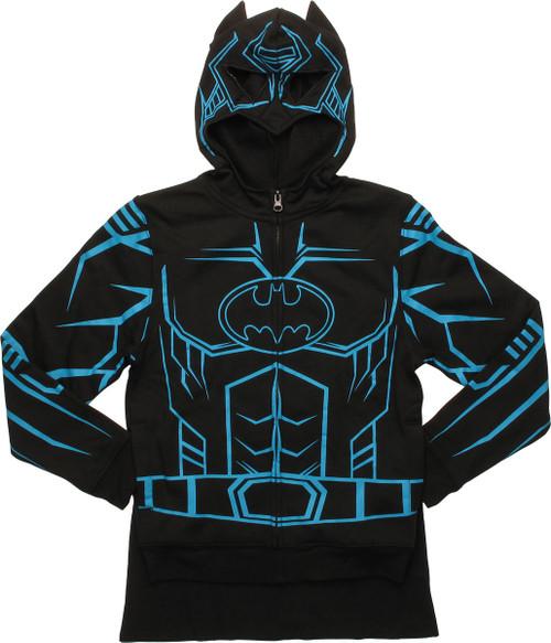 Batman Costume Glow in the Dark Caped Youth Hoodie