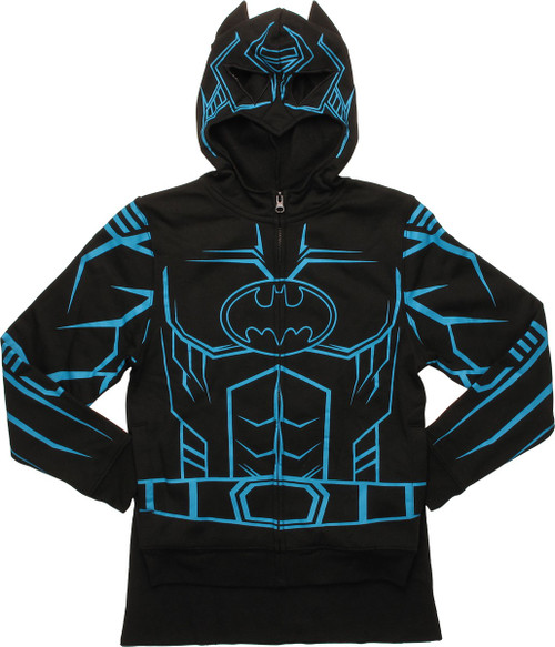 Batman Costume Glow in the Dark Caped Youth Hoodie