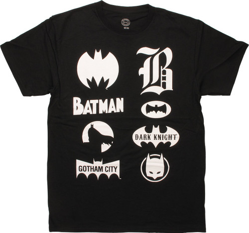 Batman Symbols Through Time T-Shirt