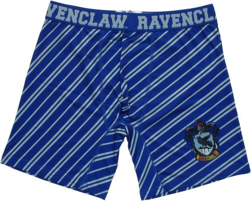 Harry Potter Ravenclaw Crest Striped Boxer Briefs