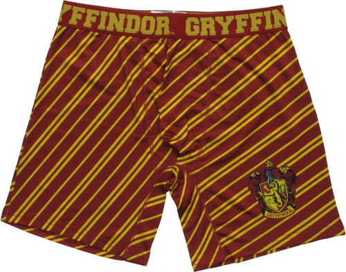 Harry Potter Gryffindor Crest Striped Boxer Briefs