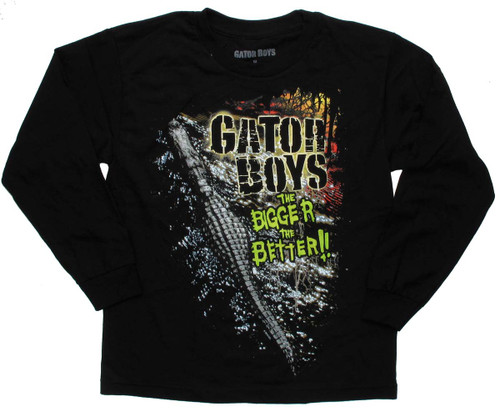Gator Boys Bigger Better Black LS Youth T-Shirt