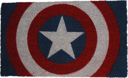 Captain America Shield Logo Doormat