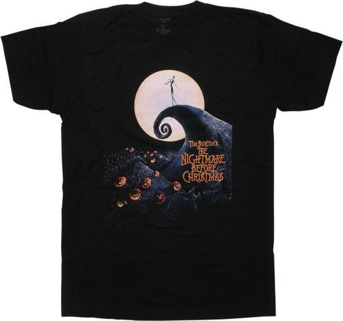 Nightmare Before Christmas Movie Poster T-Shirt