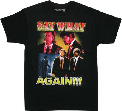 Pulp Fiction Say What Again Black T-Shirt
