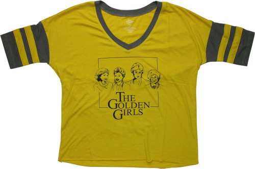 Golden Girls Cast Outlined V Neck Juniors T-Shirt