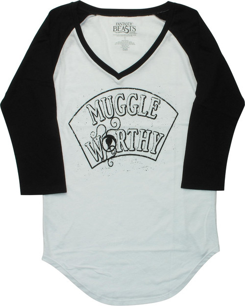 Fantastic Beasts Muggle Worthy Raglan Juniors T-Shirt