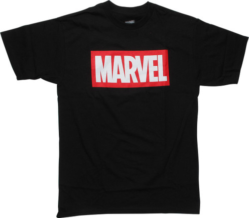 Marvel Comics Studio Logo Black T-Shirt
