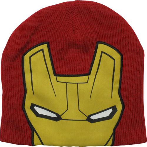 Iron Man Helmet Slouch Red Beanie
