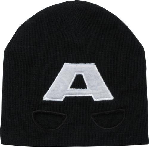 Captain America Helmet Black Beanie