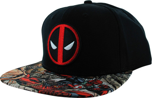 Deadpool Logo Sublimated Comic Bill Snapback Hat