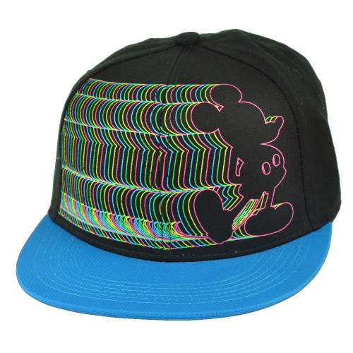 Mickey Mouse Electrify Neon Outline Snapback Hat