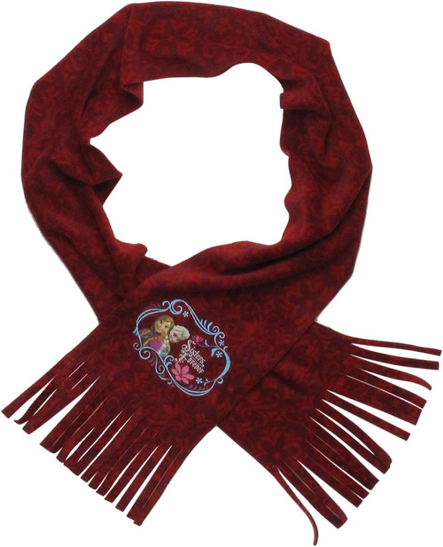 Frozen Sisters Forever Youth Girls Fleece Scarf