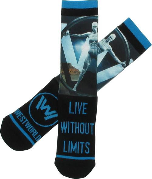 Westworld Live Without Limits Sublimate Crew Socks