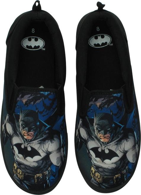 Batman Stance Canvas Slip-On Shoes