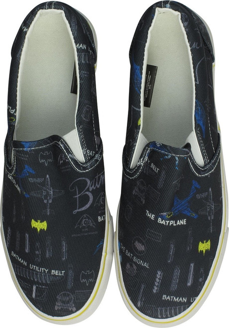 Batman Sketch Gear Black and Yellow Deck Shoes