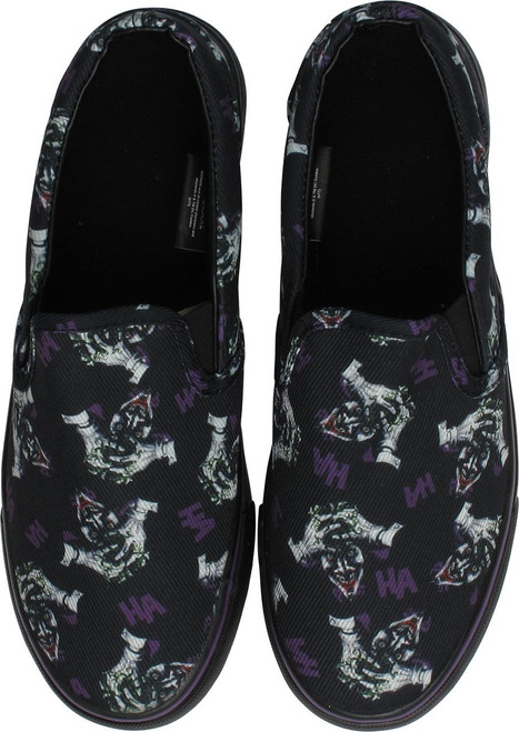 Joker Insanity Ha Ha Black and Purple Deck Shoes