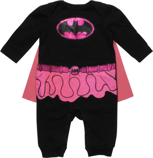 Batgirl Costume Caped LS Coverall Snap Suit