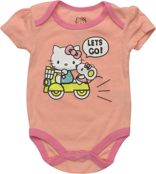 Hello Kitty Let's Go Coral Snap Suit