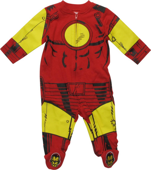 Iron Man Suit Costume Long Sleeve Coverall