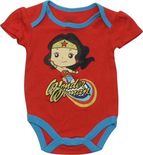 Wonder Woman Chibi Name Caped Snap Suit