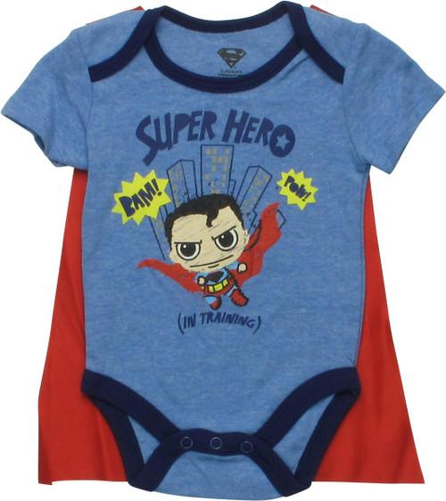 Superman Superhero in Training Caped Snap Suit