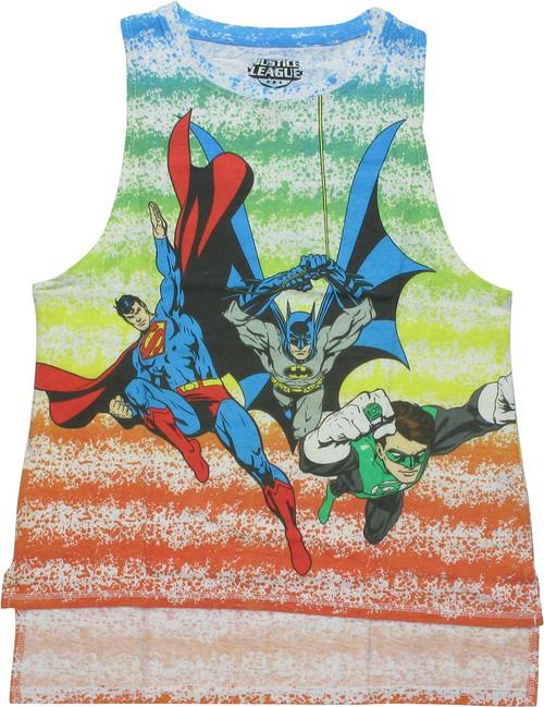 Justice League Heroes Sleeveless Juniors T-Shirt