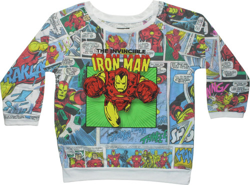 Invincible Iron Man Comic Panels Juniors T-Shirt