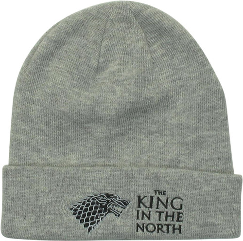 Game of Thrones King in the North Gray Cuff Beanie