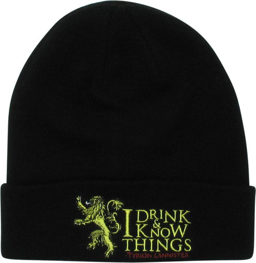 Game of Thrones I Drink & Know Things Cuff Beanie
