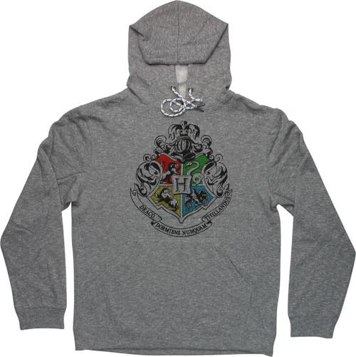 Harry Potter Hogwarts Crest Heathered Gray Hoodie