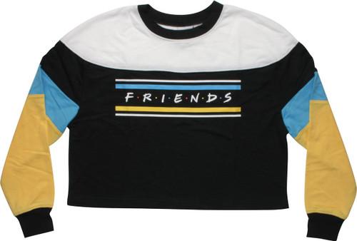 Friends Logo Long Sleeve Crop Juniors T-Shirt