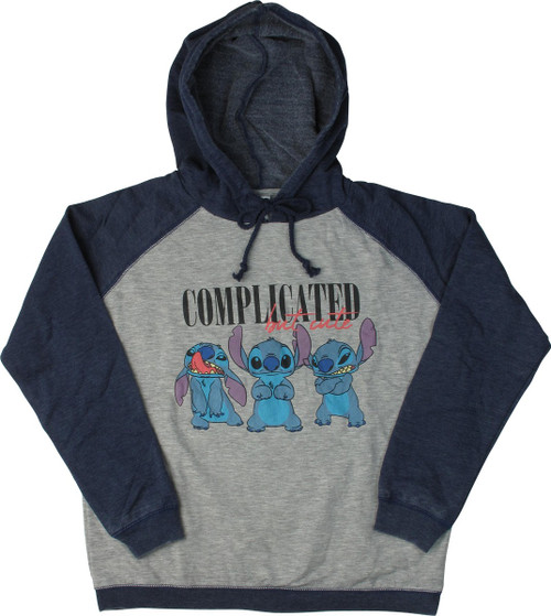 Lilo and Stitch Complicated But Cute Junior Hoodie
