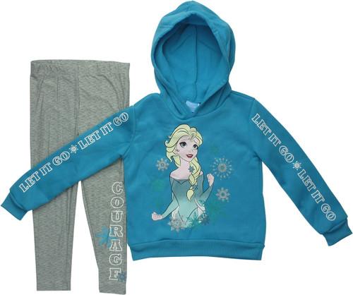 Frozen Elsa Snow Leggings and Juvenile Hoodie Set